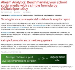 Writing and Editing: Snapshot on higheredanalytics