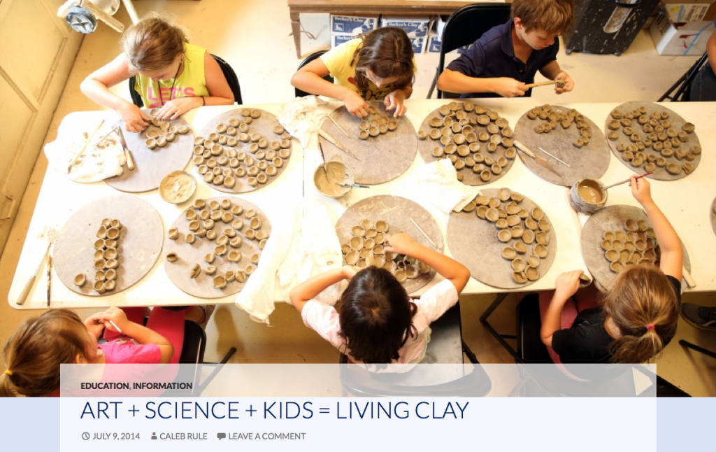 Writing and Editing: Art + Science + Kids = Living Clay