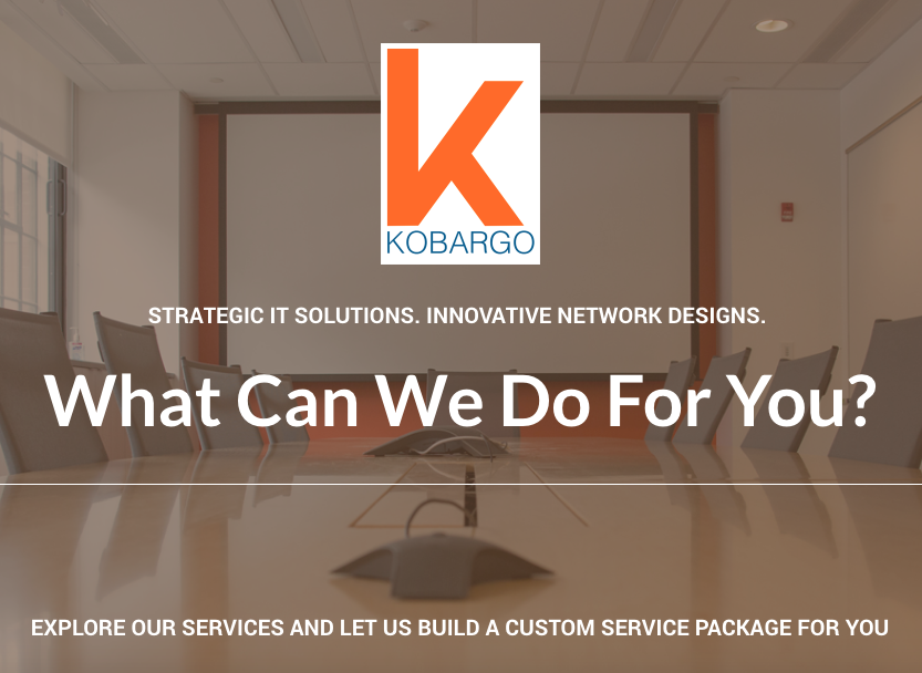 Kobargo is an IT consulting firm with offices in New York and Phoenix whom I helped build a digital foundation for.