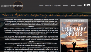 Legendary Sports website, one of many I was involved with while at M3 Agency